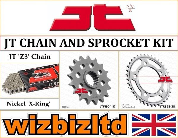 KTM SUPERDUKE R 1290 16 REGINA CHAIN X RING ZRP 525 JT SPROCKET SET 17 38