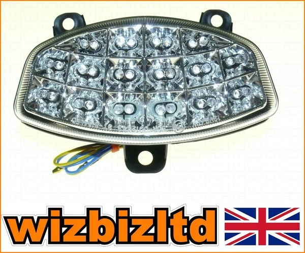 Clear LED Rear Light Inbuilt Indicators Hyosung GT 125 2007 LEDM010